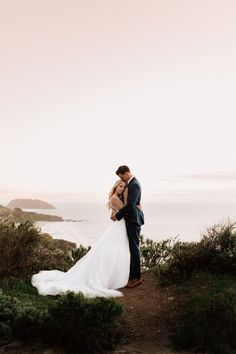 25 Sweet Seaside Photos That Will Convince You to Have a Beach Wedding Bride and Groom Seaside Wedding Photo Wedding Picture Poses, Wedding Couple Poses, Beach Wedding Photos, Beach Wedding Photography, Seaside Wedding, Wedding Photoshoot, Wedding Shoot, Beach Weddings, Wedding Bride