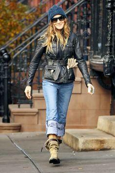 street style, street fashion, winter, fall, women fashion, sarah jessica parker