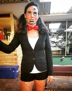 My broken ventriloquist doll costume! #happyhalloween #halloweencostume