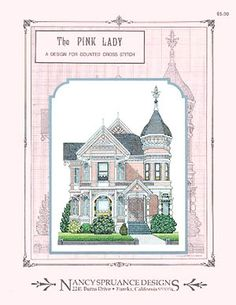 This lovely Queen Anne Victorian was built in 1889 and is located in Eureka, California. The main colors are more peach than pink.