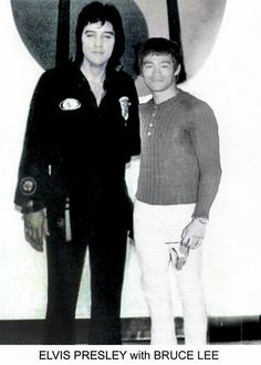 Mega Legends ~ Elvis Presley and Bruce Lee Bruce Lee Art, Bruce Lee Martial Arts, Kung Fu, Brandon Lee, Eminem, Bruce Lee Chuck Norris, Bruce Lee Pictures, Bruce Lee Family, Foto Portrait