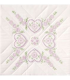Jack Dempsey Stamped White Quilt Blocks-Hearts at Joann.com  Need 5 pkgs to make queen