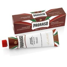 Proraso Shaving Cream Tube - Moisturizing and Nourishing (Red) Theobroma Cacao, Shaving Brush, Shaving Cream, Shaver Shop, Coco Nucifera, Allure Beauty, Pre Shave, Male Grooming, Fragrance Parfum