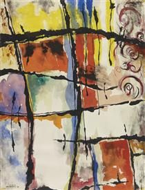 From a Riviera Window - Jock Macdonald Abstract Expressionism, Abstract Art, Abstract Paintings, Museum Studies, Architecture Art Design, Canadian Art, Art Database, Artist At Work, Art Day