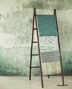 Geometric or stone-look prints in the bathroom? Check out these popular wallcovering styles. - Home & Decor Singapore Bathroom Inspiration, Interior Inspiration, Loft, Home And Living, Living Room Designs, Interior And Exterior, Ladder Decor, Decor Styles, New Homes
