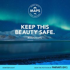 The Arctic Ocean is one of the most pristine and vulnerable ecosystems on the planet. It is home to a wide range of marine life including several endangered species. It is also unprotected. The Marine Arctic Peace Sanctuary makes all ocean waters north of the Arctic Circle an international park, free from exploitation, commercialization and military activity. Please sign the MAPS petition now at Parvati.org. MAPS becomes a reality when each one of us speaks up to create a global movement.