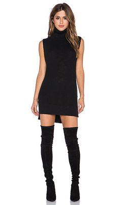 Shop for Michael Stars Sleeveless Turtleneck Tunic in Black at REVOLVE. Free day shipping and returns, 30 day price match guarantee. How To Wear Turtleneck, Sleeveless Turtleneck Dress, Black Turtleneck, Sleeveless Tops, Fall Outfits 2018, Spring Outfits, Wearing All Black, Revolve Clothing, Ladies Dress Design