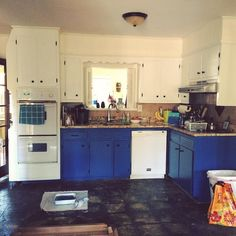 Painting is finally done (for the most part). Next step...FLOORS!! #renovations #kitchenreno #silverlox #diy #kitchen