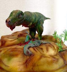 T-Rex hunting cake