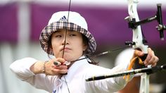 Bo Bae Ki of Korea takes aim in the women's ArcheryBo Bae Ki of Korea competes during the women's individual Archery ranking round as part of the London 2012 Olympic Games at Lord's Cricket Ground on 27 July 2012    http://media.jtbc.co.kr/2012London