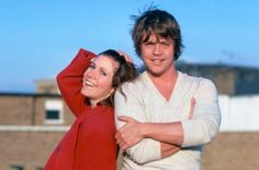 Another of Mark and Carrie. Getting the idea that these two were great fun on the set...