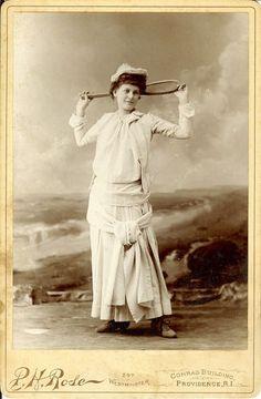 Woman Tennis Player P H Rose Providence RI CC   eBay