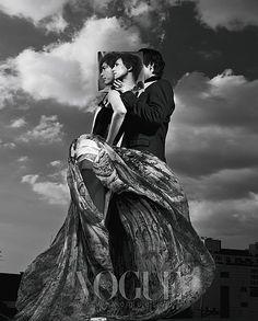 Jung Woo Sung and Gao Yuan Yuan in Vogue Korea