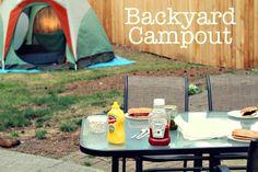 backyard campout