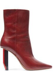 VetementsTextured-leather ankle boots...vehemently passionate nille