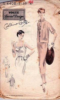 1953 Vogue sewing pattern #crafts #sewing #vintage