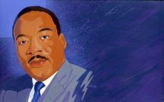 Portrait of Martin Luther King Jr. by Alvalyn Lundgren