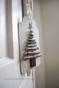Foto: Kerstboompje van takjes . Geplaatst door suuuzann op Welke.nl