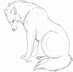 43 Trendy how to draw a wolf step by step products Art Drawings Sketches Simple, Animal Sketches, Pencil Art Drawings, Animal Drawings, Cute Drawings, Wolf Drawings, Arte Furry, Furry Art, Anime Wolf Drawing