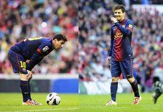 Messi no jogo de ontem : Olá pessoal,    Trago duas fotos do jogo de ontem, onde o Barça empatou em 2 - 2 com o Athletic de Bilbao.    Hoje os jogadores do Barça treinaram normalmente pela manhã, Leo fez apenas recuperação no ginásio.    Bjs | yolepink