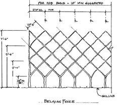 BELGIAN FENCE espalier sketch  via http://www.espaliertrees.com