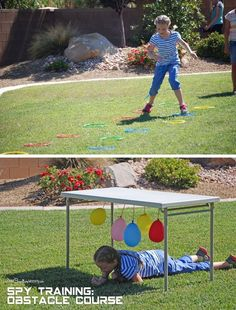 Spy Birthday Party {Obstacle Course Spy Training} OneCreativeMommy.com: