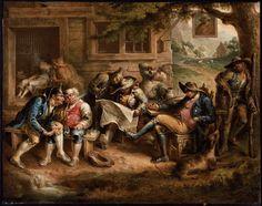 Rip Van Winkle and His Companions at the Inn Door of Nicholas Vedder  1839 John Quidor (American, 1801–1881)