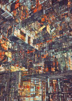 Illustrations of Futuristic Mega-Cities by Atelier Olschinsky | Hi-Fructose Magazine
