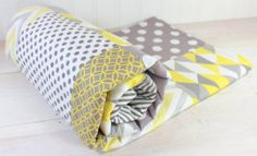 Baby Blanket Unisex Patchwork Baby Blanket by theredpistachio, $54.50