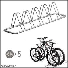 estacionamiento para 5 bicicletas piso rack storage stand.