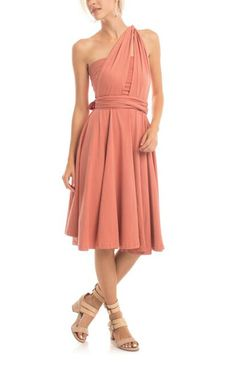 Essential Infinity Dress in Desert Sand by Synergy Organic Clothing
