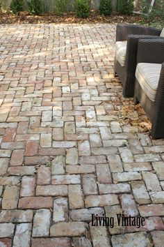 Katie and Ryan's brick patio - Living Vintage