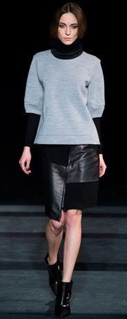 FALL 2013 | TIBI- swearshirt and leather