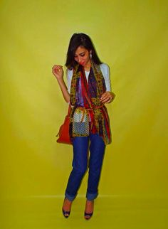 Scarves are among the easiest ways to make an outfit chic. Just like accessories do  Share with me how you style your colorful Scarves and Veils in the Fall using #ElZayanLookBook hash tag ;) #ElZayanLookBook #stylist #fashion #fashionblogger #scarf #veil #denim #outfitpost #fashiondaily #fashiongram #fashionstylist #fashiondiaries #style #styleblogger #styleinspiration #stylegram #styleguide