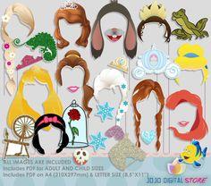 Prinzessin Party Foto Booth Requisiten von IraJoJoBowtique auf Etsy