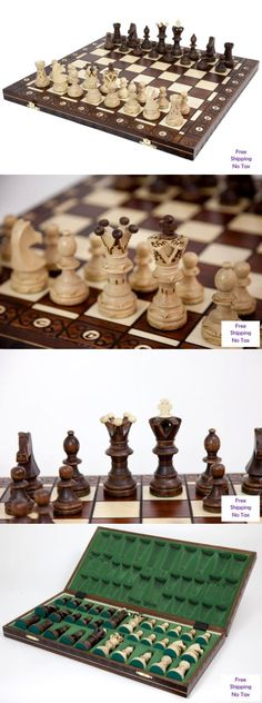 Contemporary Chess 40856: 21X21 Wood Chess Set With Hand Carved Chessboard And Pieces Strategy Board Game -> BUY IT NOW ONLY: $86.5 on eBay!
