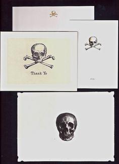 Skull stationery.