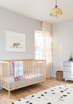 Introducing Baby Rhino in a Soothing California Nursery. — The Animal Print Shop Ikea Baby Nursery, Baby Nursery Neutral, Nursery Modern, Baby Bedroom, Baby Boy Nurseries, Nursery Room, Girl Nursery, Nursery Decor, Nursery Ideas