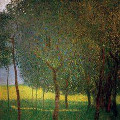 Фруктовые деревья. Густав Климт                                       Частная коллекция 1901. 90x90