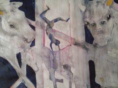 "Saatchi Online Artist Laurel Gallagher; Painting, ""Horse Goddess"" #art Selling Art Online, Saatchi Online, Art For Sale, Saatchi Art, Original Artwork, Goddess Art, Horses, Sculpture, Drawings"
