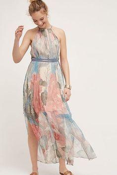 07e7017dda34 NWT ANTHROPOLOGIE Sea Star silk Maxi Dress  188 Size M
