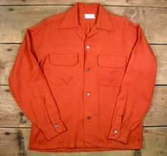 Vintage Men's 1950's Nutmeg Rayon Gab Shirt S by Rustology on Etsy, 72.00