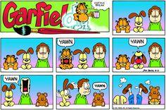 Find your favorite Garfield comic strips by date or keyword. Garfield And Odie, Garfield Comics, Gi Joe, Cartoon Shows, Cartoon Characters, Hagar The Horrible, Comic Boards, Funny Things, Display