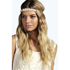 Boohoo Ruby Pearl Cluster Head Band ($16) ❤ liked on Polyvore