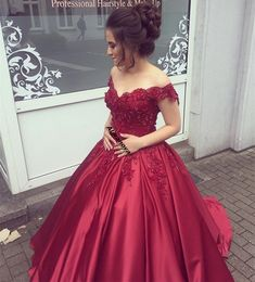 Prom Dresses Elegant, burgundy wedding dress engagement dress bridetobe brautkleid vestidos de noiva ball gowns prom dress , Mermaid prom dresses, two piece prom gowns, sequin prom dresses & you name it - our 2020 prom collection has everything you need! Ball Gowns Prom, Party Gowns, Ball Dresses, Evening Dresses, Party Dress, Off Shoulder Ball Gown, Shoulder Straps, Robes Quinceanera, Princess Prom Dresses