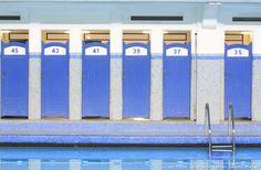 Cabines de la piscine saint-georges à Rennes Saint Georges, Brest, Project 3, France, Swimming Pools, Art Deco, City, Spirit, Doors