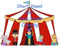 FREEBIE--5 pages of coloring fun to help student practice recognizing and reading short and long vowel words