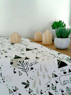 blanket, forest print !