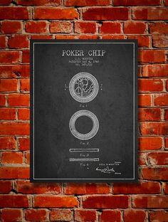 1948 Poker Chip Patent Canvas Print Wall Art by PatentsWallArt