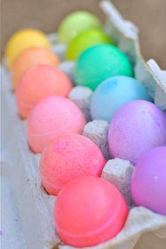 Rainbow eggs fizzy bath balls
